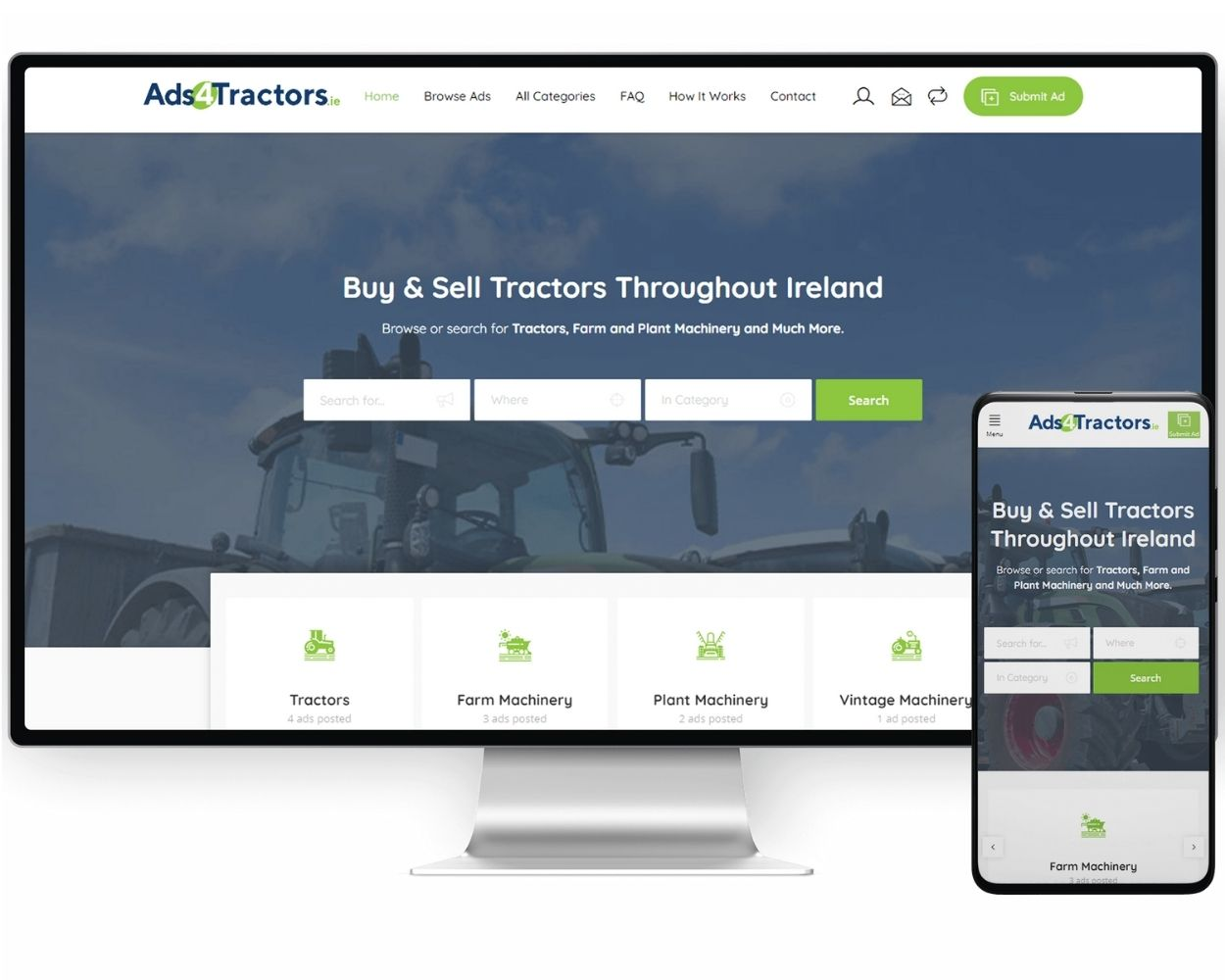 Ads 4 Tractors   Web Development and Digital Marketing Services